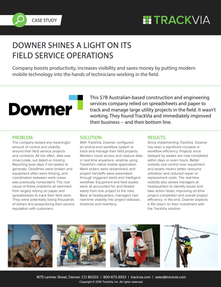Downer Shines a Light on Its Field Service Operations